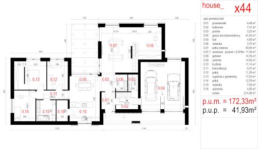 House X44 - Rzut parteru