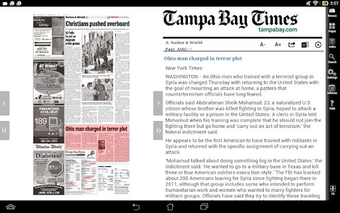 Tampa Bay Times e-newspaper- screenshot thumbnail