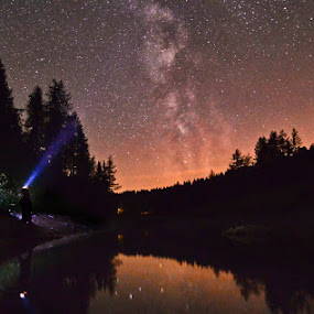 Looking into infinity by Zoran Stanko - Landscapes Starscapes