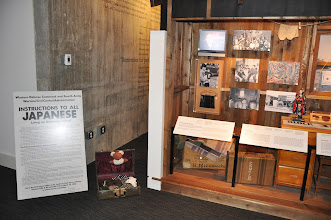 Photo: An exhibit on the relocation of Japanese Americans during World War II.