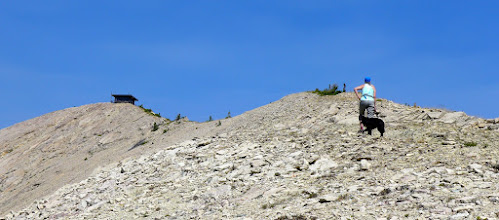 Photo: There it is - The Patrol Mountain Lookout! (elevation of the lookout is 8,015 ft).