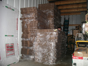 Photo: Pino`s Pizza storage center.   Don`t worry we will NOT be running out of boxes anytime soon!