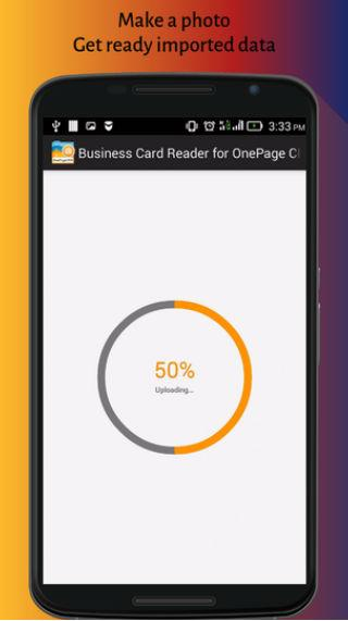 Business Card Reader for OnePage CRM- screenshot