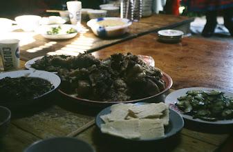 Photo: 03513 経棚郊外/克什克謄旗の旗長の歓迎パーティー/食事