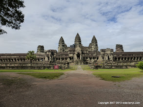 Photo: The main building viewed from the East at Angkor Wat