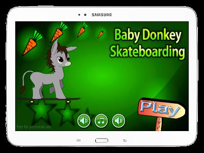 Baby Donkey Skateboarding screenshot 8