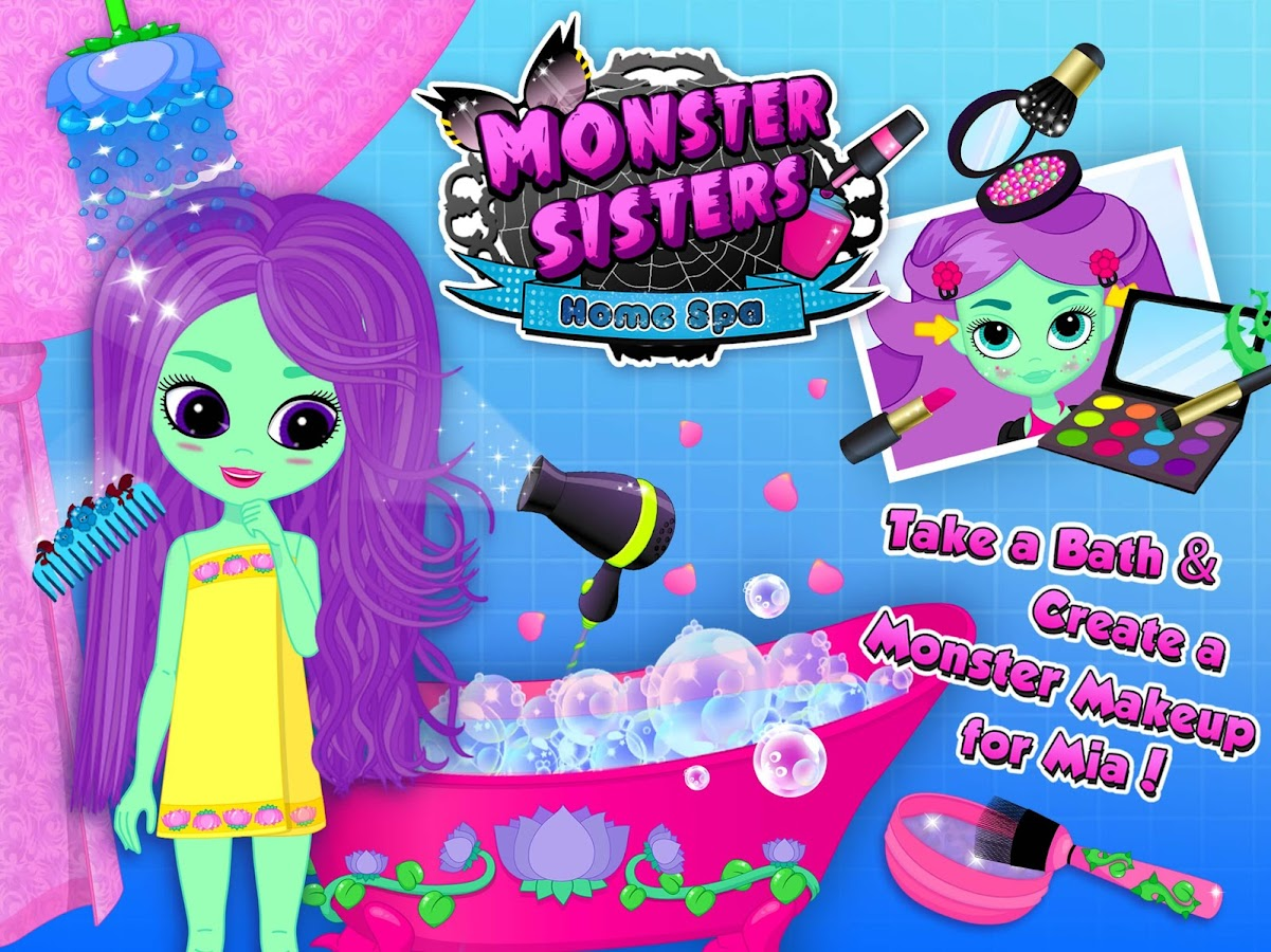 Monster Sisters 2 Home Spa- screenshot