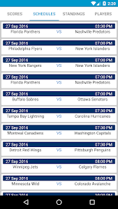 Hockey Score NHL Schedule screenshot 1