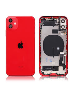 iPhone 11 Housing with small parts Original Pulled Red