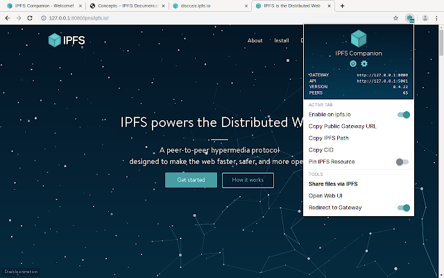 IPFS Companion