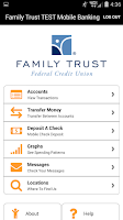Screenshot of Family Trust Mobile Banking