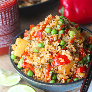Sweet and Salty Pineapple Fried Rice [Vegan]