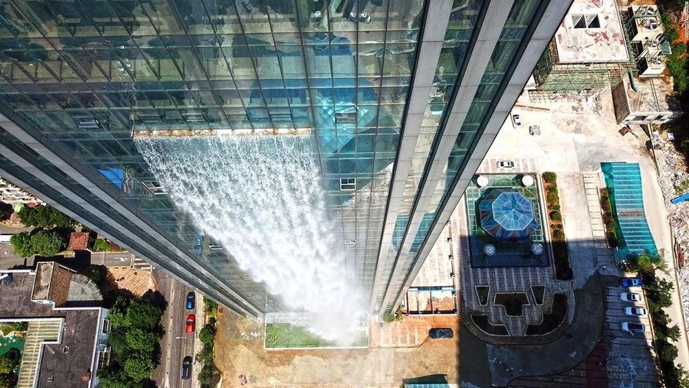 Liebian Building, a maior cachoeira urbana do mundo