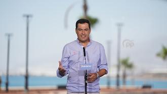 Juan Manuel Moreno, presidente de la Junta de Andalucía.