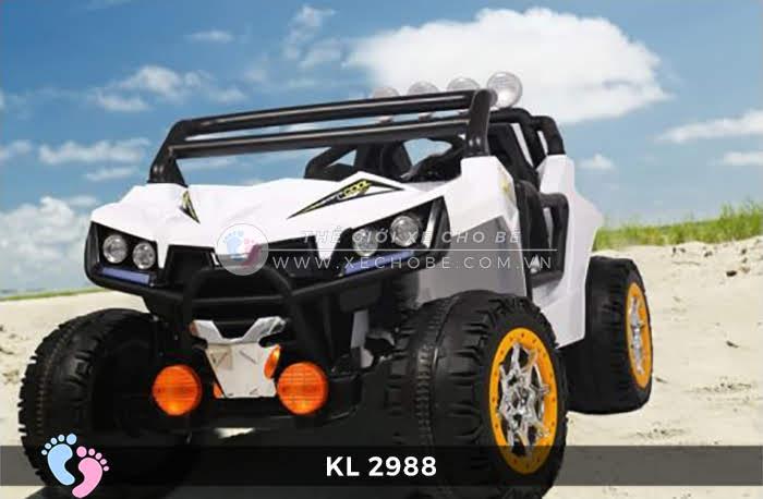 Xe ô tô điện đồ chơi trẻ em KL-2988 ghế da 5