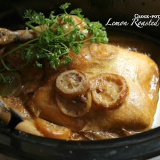 Crock-pot Roasted Lemon Chicken.