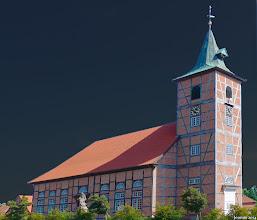 Photo: St. Marienkirche (19. Jht.) aus Fachwerk in Neuhaus an der Elbe