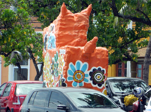papier-mache.jpg - Leftover parade decorations from Carnaval, which had just ended.