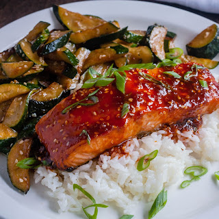 Citrus and Honey Glazed Salmon Teriyaki
