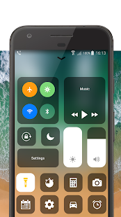 Control Center iOS 11 - Phone X Control Panel Screenshot