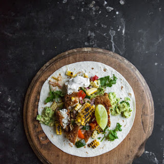 Loaded Fish Tacos with Ceviche Salsa and Roast Corn Recipe