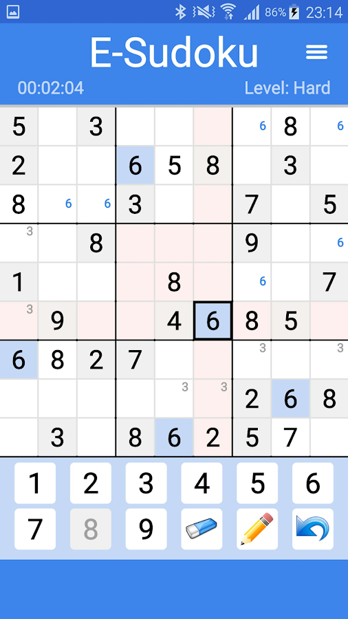 E-Sudoku- screenshot