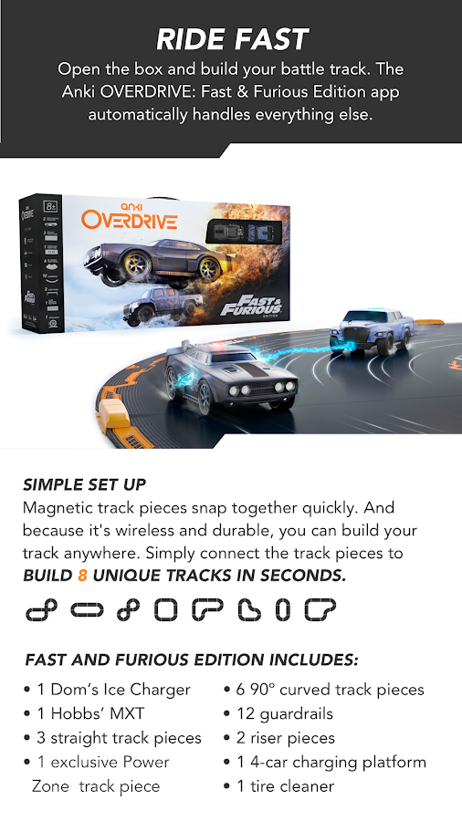 anki overdrive fast furious edition android apps on. Black Bedroom Furniture Sets. Home Design Ideas