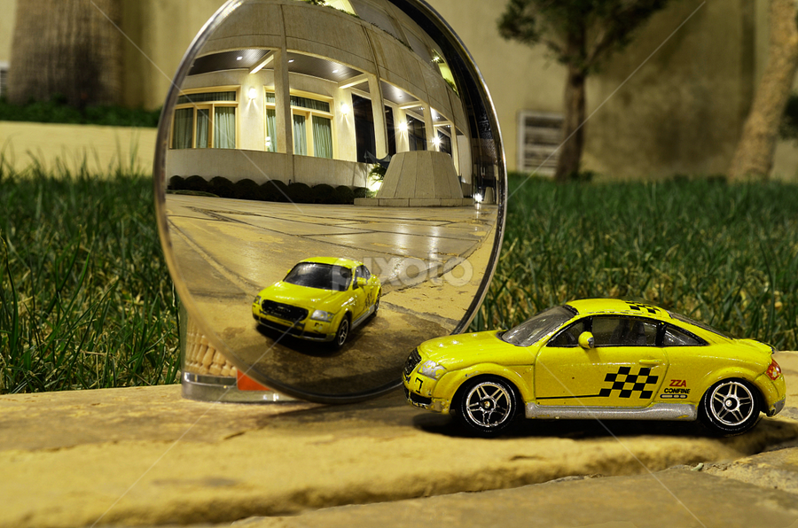 mirror of my car.. by Pete G. Flores - Artistic Objects Toys ( pwcmirror )
