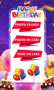 Happy Birthday Photo frame with Name Photo on Cake 1.0 APK + Mod (Free purchase) for Android