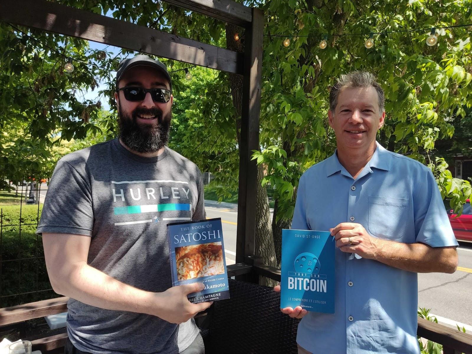 Phil Champagne et David St-Onge, auteurs de livres sur Bitcoin