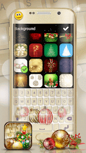 Christmas Emoji Keyboard Theme screenshot 3