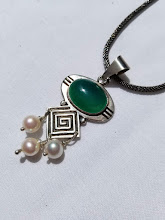 Photo: Unique Metal and Stone Pendant Necklace by Gloria Shannon Metalsmith