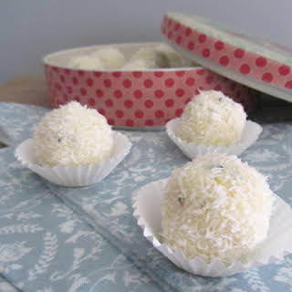 Coconut, Lime, Ginger, and Mint Balls.