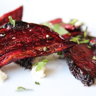 Lightly Smoked Beets with Goat Cheese Recipe