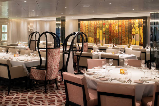 Treat yourself to contemporary French cuisine at the fine dining venue Normandie Restaurant on Celebrity Edge.