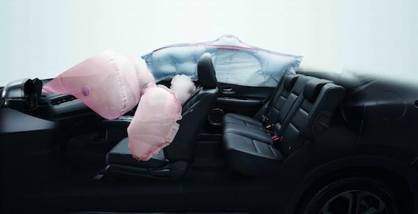 Honda HR-V มีถุงลมมาให้ 6 จุดครอบคลุมทั้งห้องโดยสาร