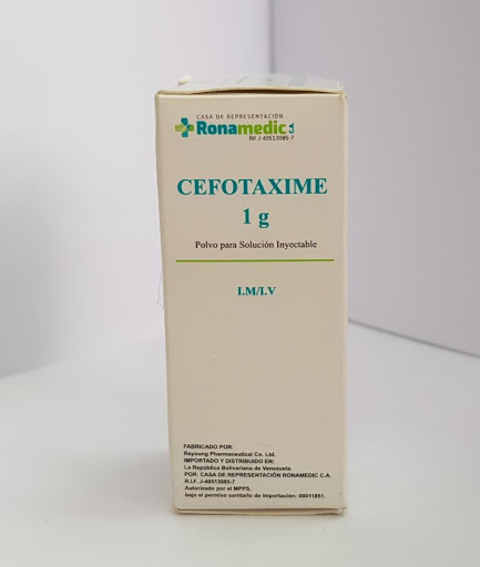 Cefotaxime 1g Sol Iny  Ronamedic CEFOTAXIMA (1 G)