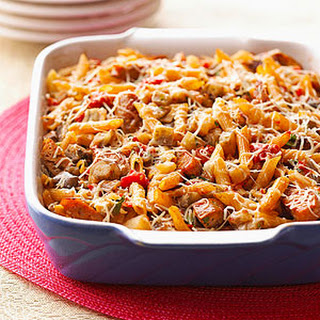 Baked Ratatouille Sausage Penne