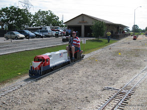 Photo: Ralph Williams with his week old loco looking bright and proud.  HALS-SLWS 2009-0523