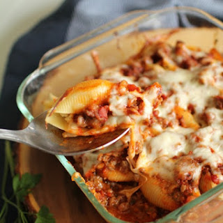 Lasagna Stuffed Pasta Shells
