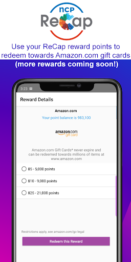 NCP ReCap: Shopping Rewards - screenshot