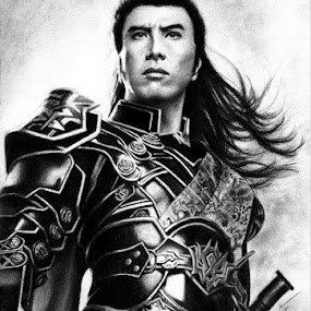 Donnie Yen by Franky Go - Drawing All Drawing ( cosplay, role model, hero, heroes, hongkong, mmorpg, kung fu, martial art, actor, game, donnie yen, pc game, kangow, online game, rpg, china )