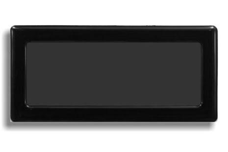 DEMCiflex magnetisk filter 2x40mm, rektangulær, sort