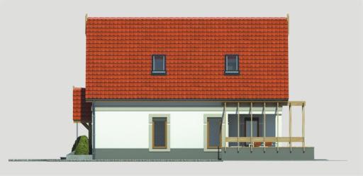 Aida wersja B poj. garaż i pokój nad garażem - Elewacja prawa