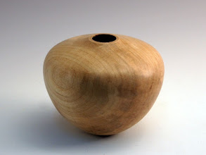 "Photo: Gary Guenther - Hollowed Vessel - 3 3/4"" x 4 5/8"" - Silver Maple"