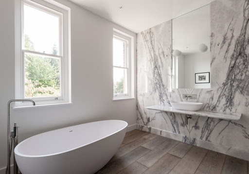 Phòng tắm ốp đá hoa cương PVC