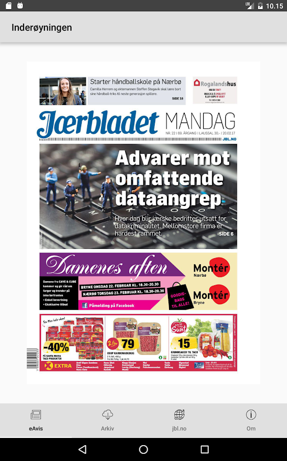 Jærbladet- screenshot