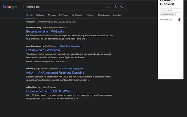 Google Result Filter