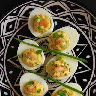 Deviled Eggs with Shrimps Recipe