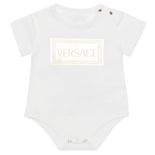 Primary image of Young Versace Gold Logo Bodysuit